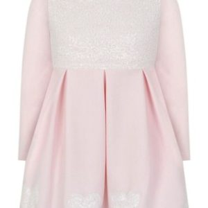 Bimbalò Pink Sequin Hearts Dress