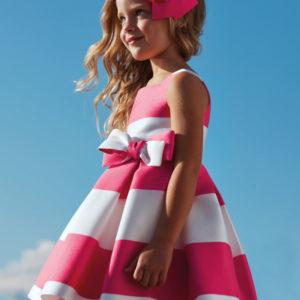 Abel & Lula Fuchsia Dress 5026