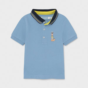 Mayoral Toddler Blue Polo 1104