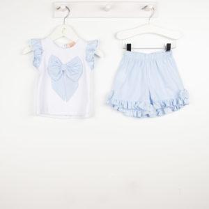 Caramelo Blue Shorts Set 31452