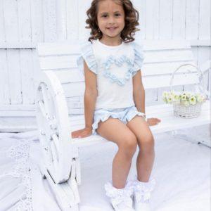 Caramelo Blue Shorts Set 31450