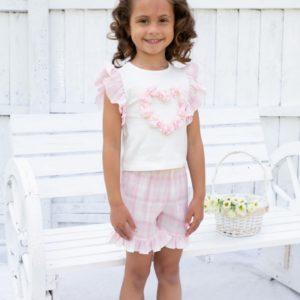 Caramelo Pink Shorts Set 31450