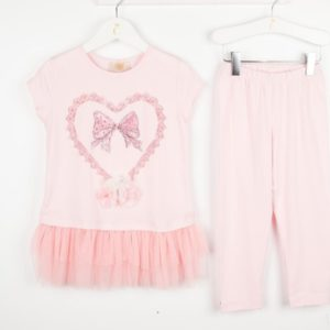 Caramelo Pink Leggings Set 11442