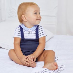 Mayoral Baby Overall & Cap Set 1624