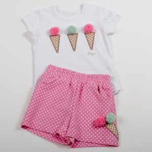 Daga Ice Cream Shorts Set