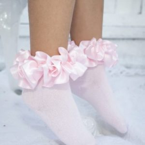 Caramelo Pink Ribbon Socks 049
