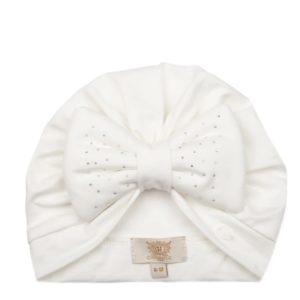 Caramelo White Diamanté Turban